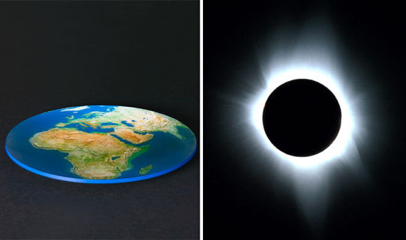 flat earth solar eclipse