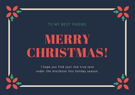 Red and Green Mistletoe Funny Christmas Card   Templates