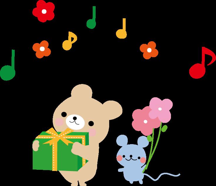 プレゼントメッセージカードの挿絵のイラスト無料イラストフリー素材