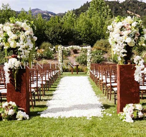 outdoor ceremony aisle decorations Archives   Weddings