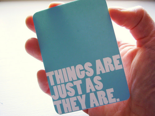 Things Are Just As They Are ACEO
