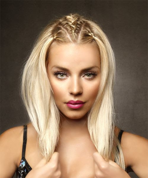 Long  Straight Casual Hairstyle  Light Blonde Hair Color