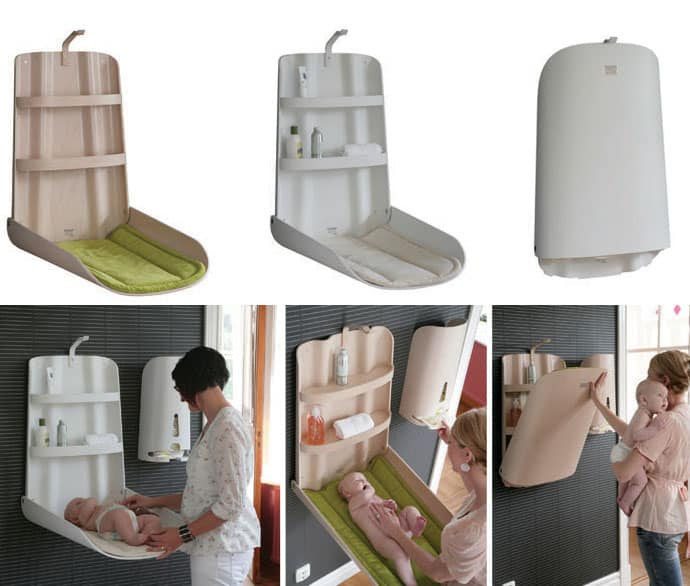 Baby Furniture from Bybo: Space Saving Wall Mounted Baby Changing ...