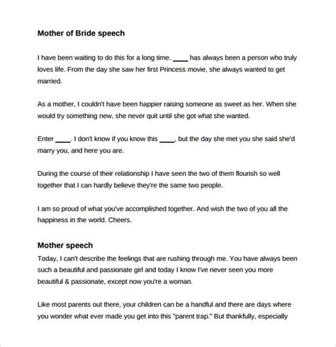 wedding speech examples