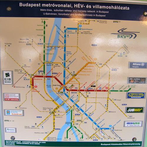Budapestin Kartta