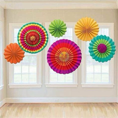 Colorful Tissue Paper Fans Party Wedding Birthday Hanging