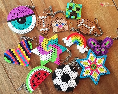 craft  kids perler bead backpack tags