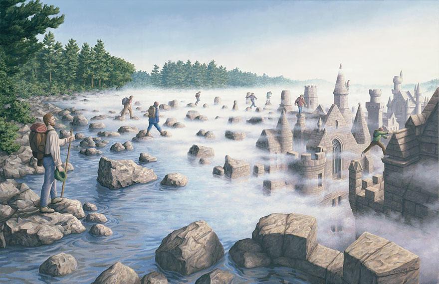 diaforetiko.gr : magic realism paintings rob gonsalves 12 880 33 Πίνακες Ζωγραφικής με οπτικές ψευδαισθήσεις που παίζουν με το μυαλό σου.