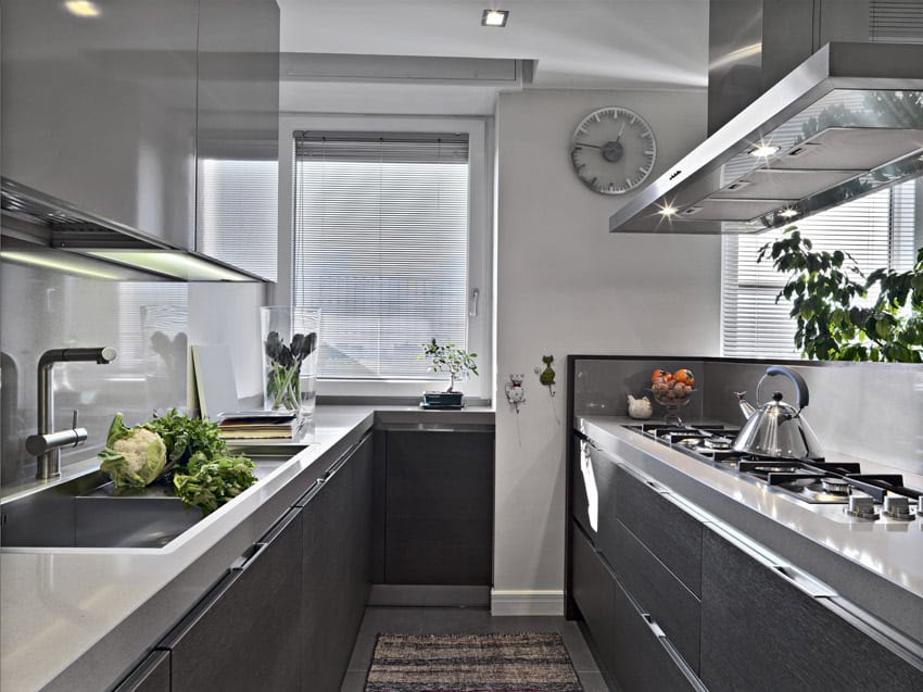 36 Stylish Small Modern Kitchens (Ideas for Cabinets ...