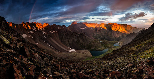 Blue Lakes Pass Sunrise por David Kingham