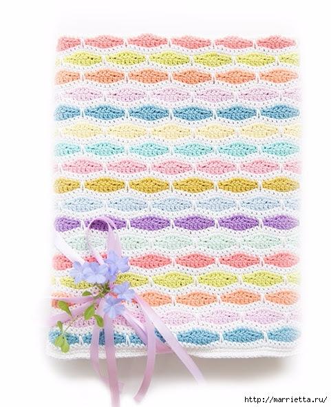 Kids crochet blanket of multicolored yarn (6) (481x590, 205Kb)