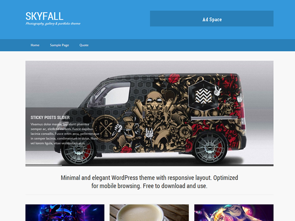 SkyFall Free WordPress Theme