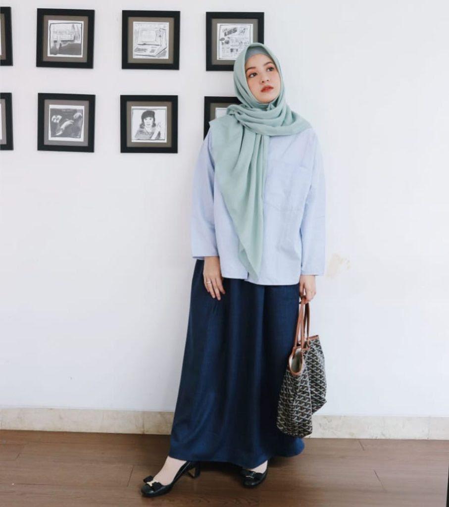 14 Model Baju Muslim Untuk Orang Gemuk Gamis