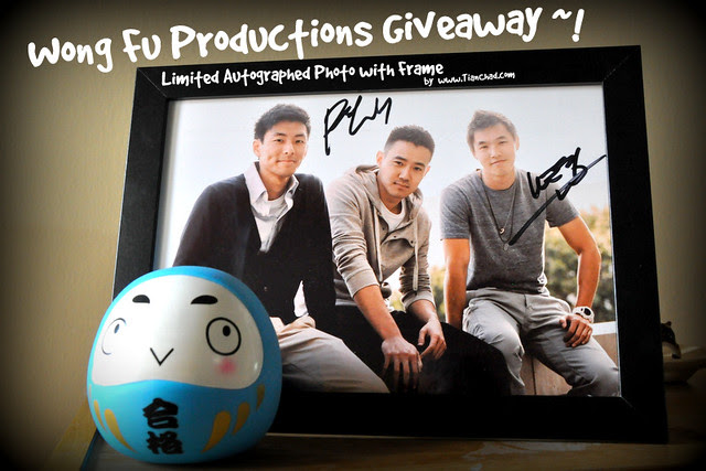 Wong Fu Autographed Photo w Frame Giveaway | TianChad.com