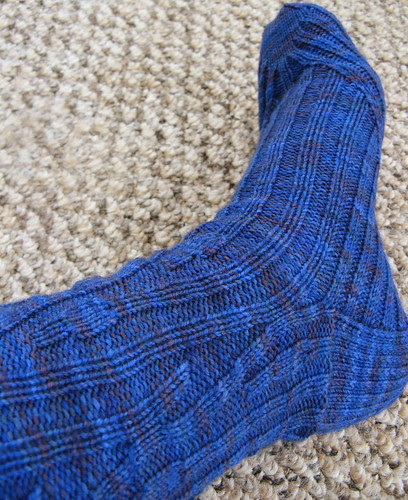 Smooshy sock - 3/4 view