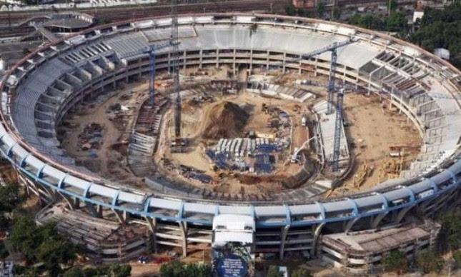 Maracanã em obras: Empreiteira de Cavendish, Delta, tinha contratos de R$ 1 bilhão com o estado do Rio e fazia parte do consórcio responsável pela reforma do estádio