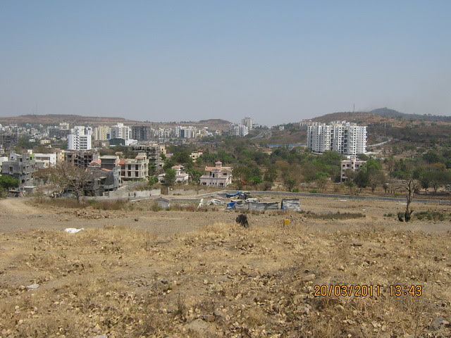 Bavdhan Khurd & Budruk, Mumbai Bangalore Bypass, Adity Nisarg Bungalow Society, Paranjape Schemes' Gloria on Paud road from the plot of Suyog Group - on the hill of Bavdhan Budruk 3