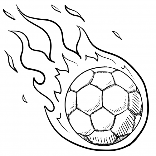 Soccer Ball In Flames For Kids  KidsPressMagazine.com