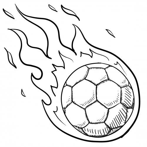 Soccer Ball In Flames For Kids  KidsPressMagazine.com