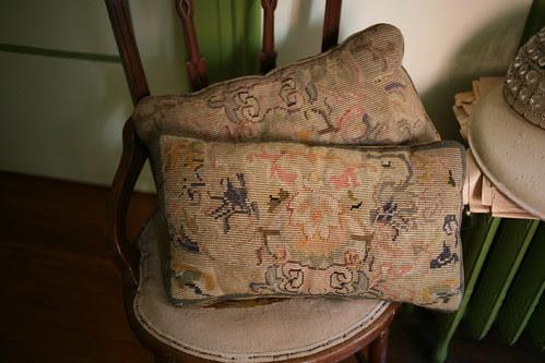 1880's (?) Needlepoint Pillows