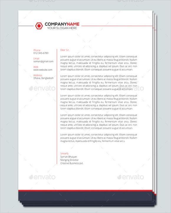 Fotolip Com Rich Image And: 92 A LETTERHEAD EXAMPLE