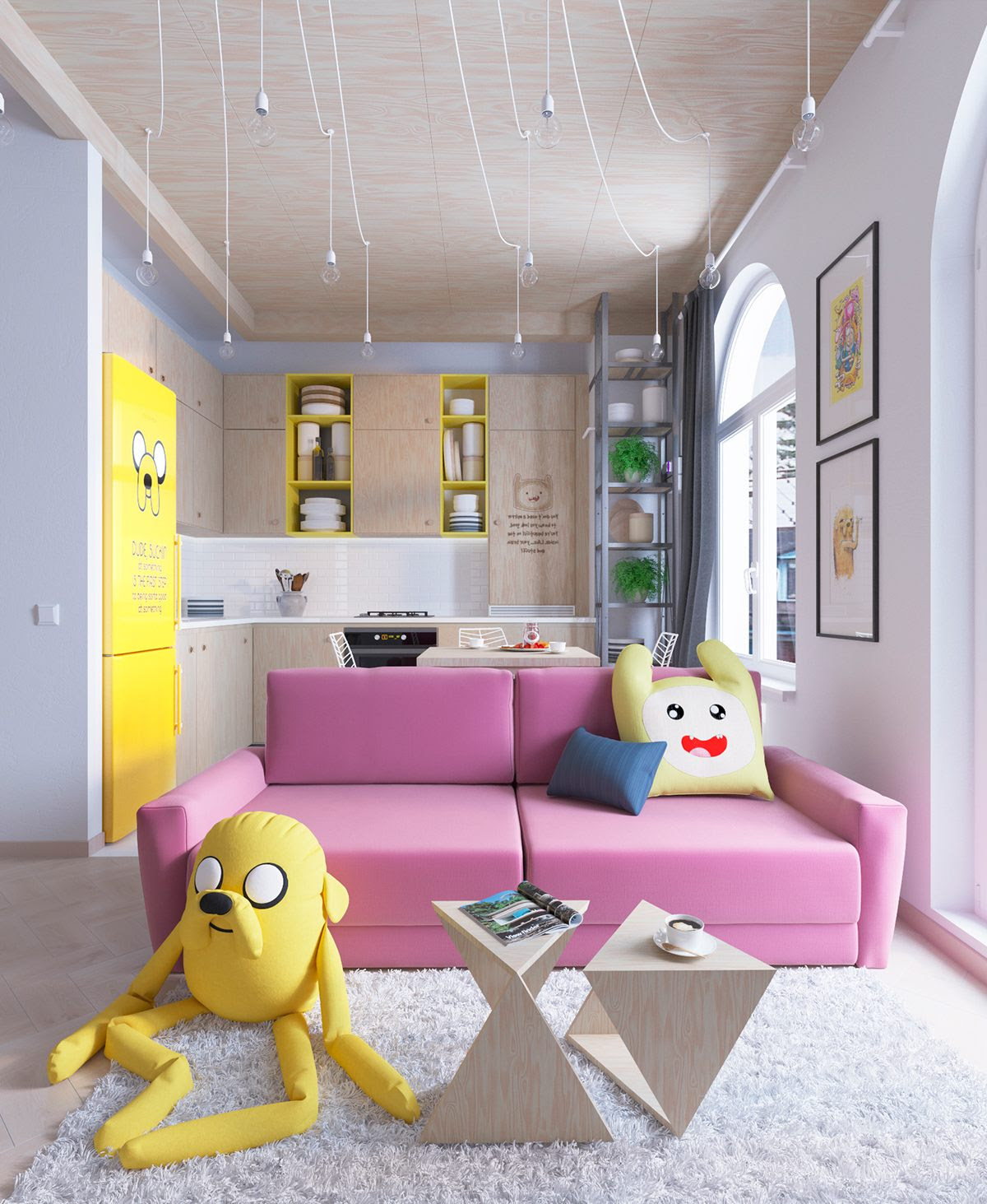 Bright Homes In Three Styles Pop Art Scandinavian And Modern