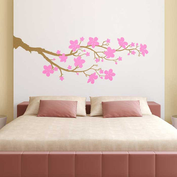 A simple and elegant cherry blossom branch wall decal. Elegant wall art for your home decor. Vinyl wall sticker from http://cozywallart.com/