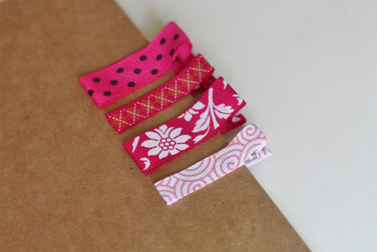 Ribbon Covered Clips Grosgrain Ribbon Covered Clips