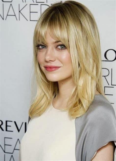 top  medium length hairstyles  bangs   faces