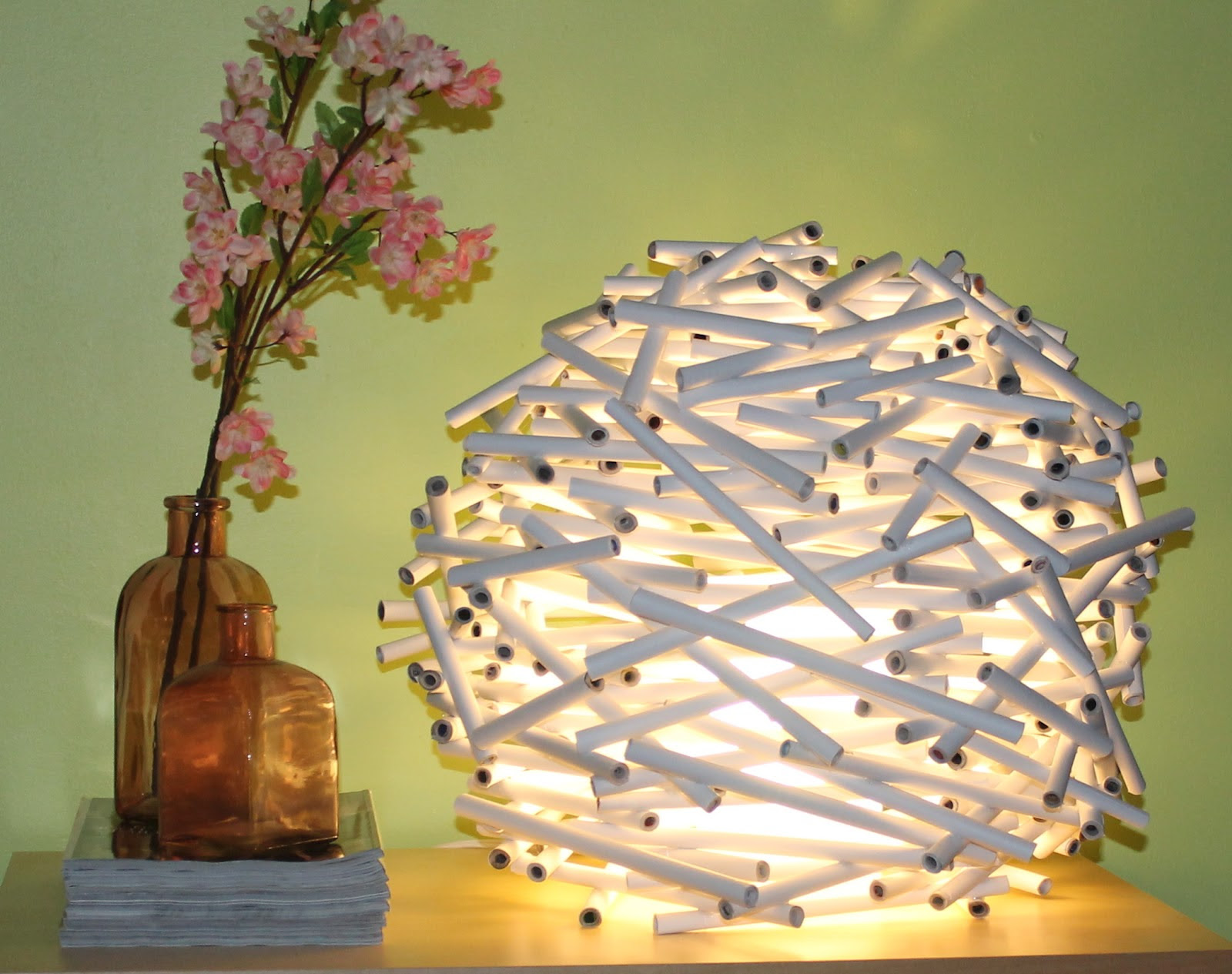 Diy How To Make A Birds Nest Lamp Shade Out Of Newspaper Catch