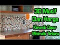 Motif Keramik Dapur Minimalis Terbaru
