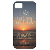 I am with you Always Bible Verse iPhone 5/5S Cover