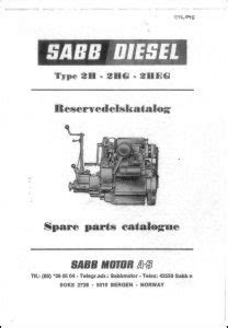 Sabb Diesel Engine Manuals - MARINE DIESEL BASICS