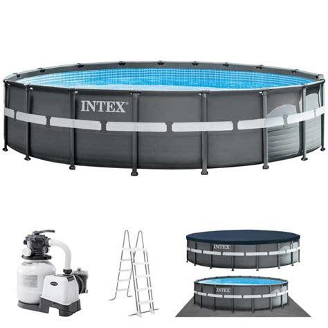 intex ultra xtr frame pool rond    cm met
