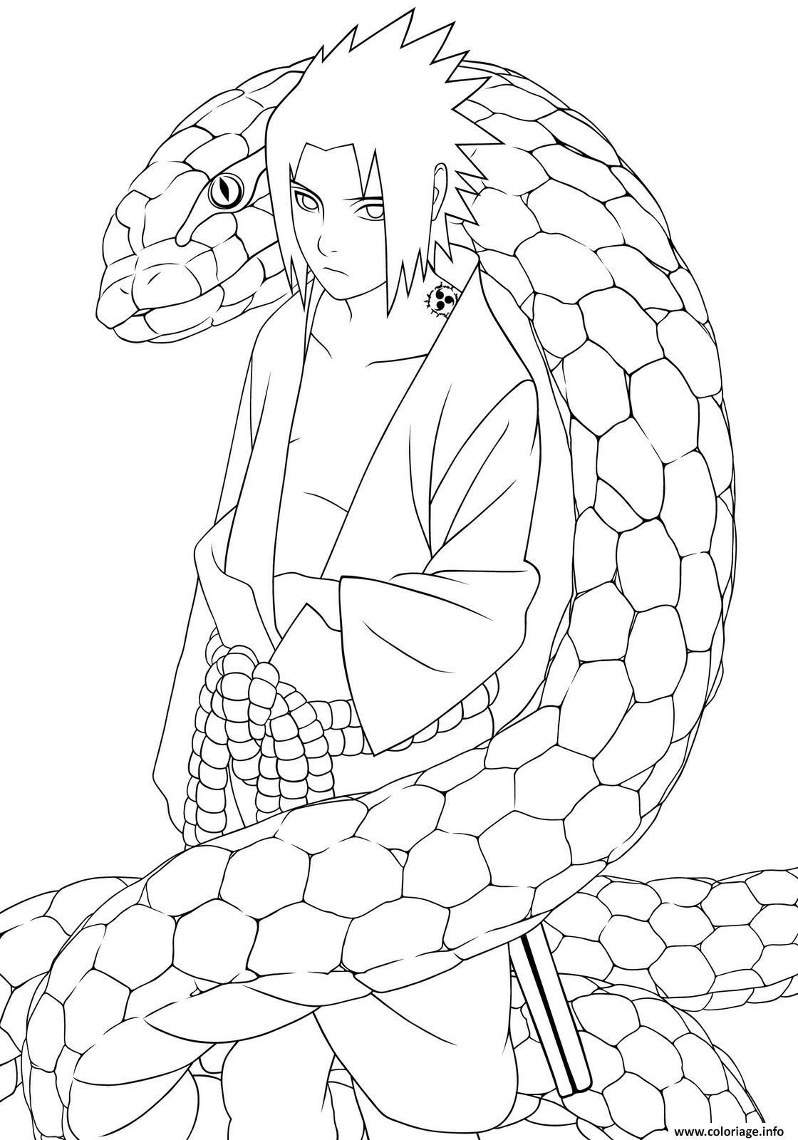Coloriage Manga Naruto 2 Dessin  Imprimer