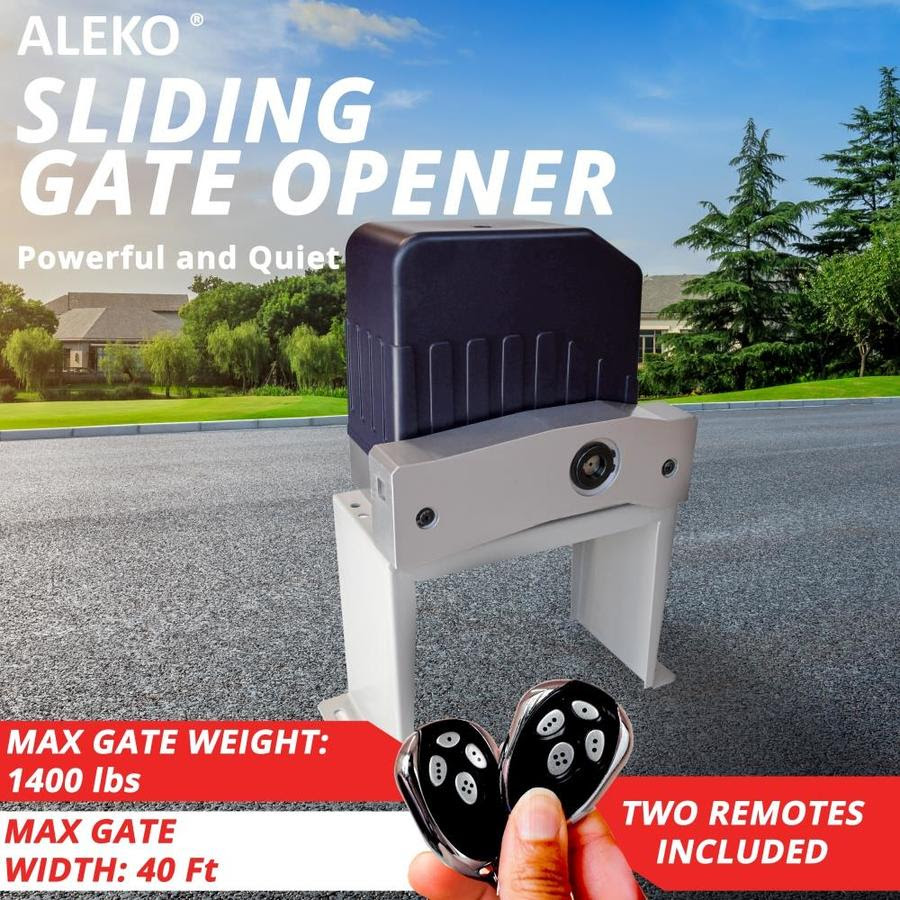 Aleko Aleko Accessories Kit Sliding Gate Opener For Sliding Gates Up To 40 Ft Long And 1400 Pounds In The Automatic Gate Openers Department At Lowes Com