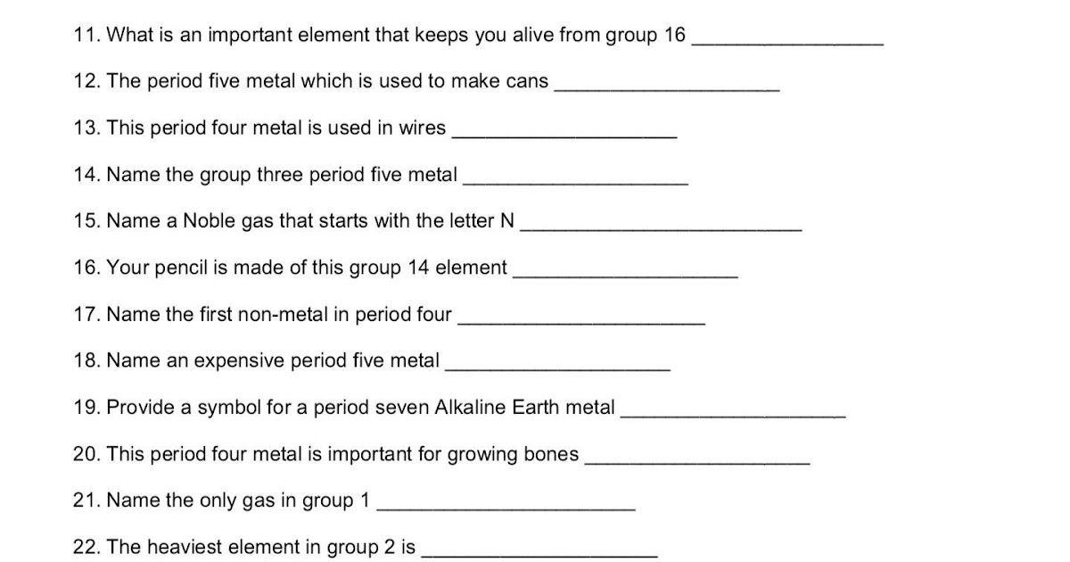Nova Hunting The Elements Worksheet Answer Key - worksheet