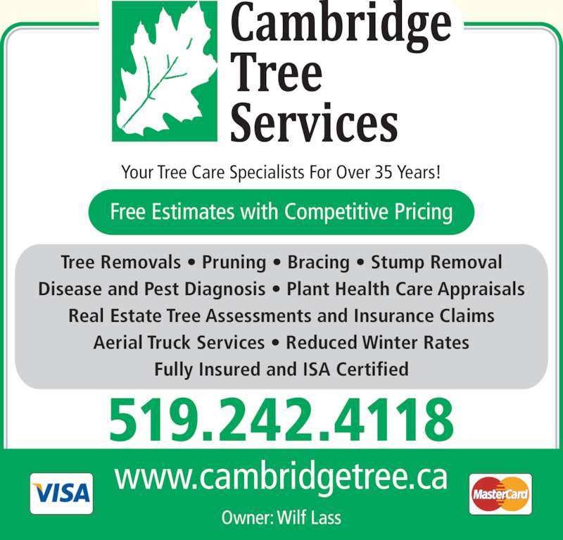 Cambridge Tree Sevices - Opening Hours - 68 Glenview Ave ...