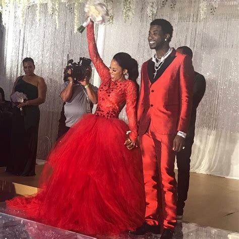 Gucci Mane & Keyshia Ka'oir Wear All Red at Wedding
