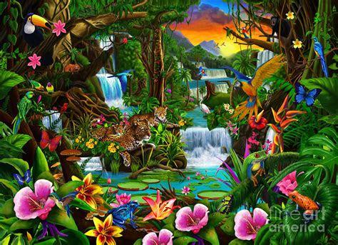 beautiful rainforest digital art  mgl meiklejohn