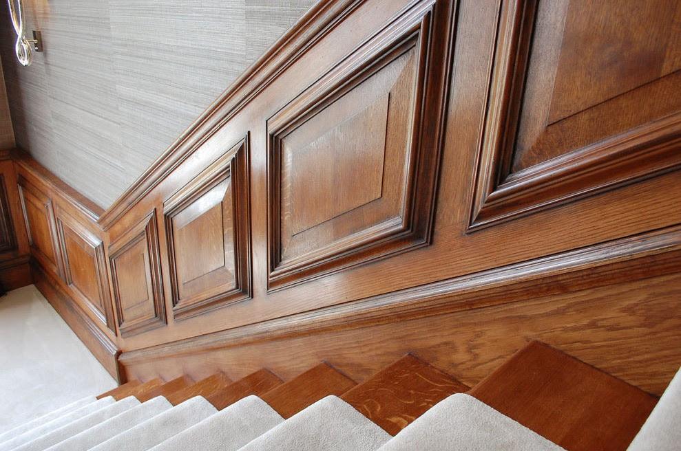 boiserie scale in legno classiche