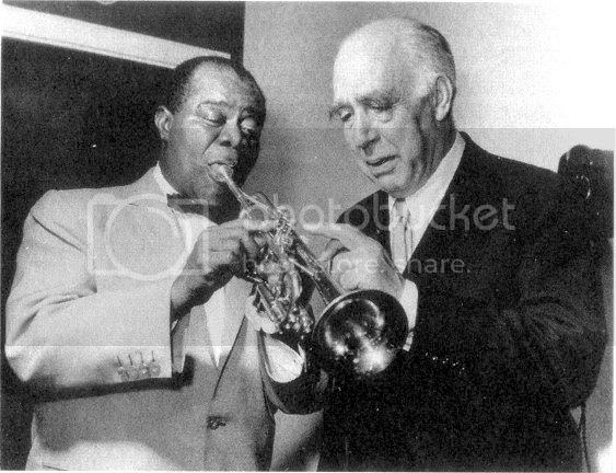 Louis Armstrong and Neils Bohr, Copenhagen, 1959