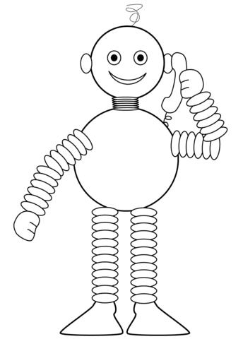 Disegno Di Robot Che Parla Al Telefono Da Colorare Disegni Da