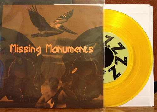 "Missing Monuments - (I'm Gonna) Love You Back To Life 7"" - Gold Vinyl (/200) by Tim PopKid"