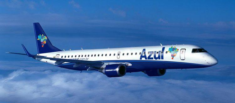 Avião da Azul Linhas Aéreas, operação brasileira da americana Jet Blue, de David Neeleman.