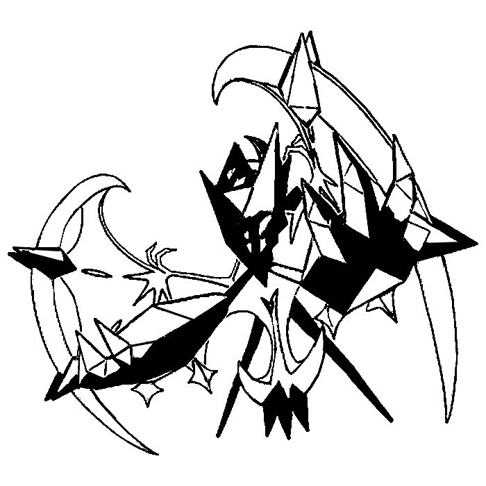Coloring Page Pokémon Ultra Sun And Ultra Moon Necrozma Dawn Wings 4