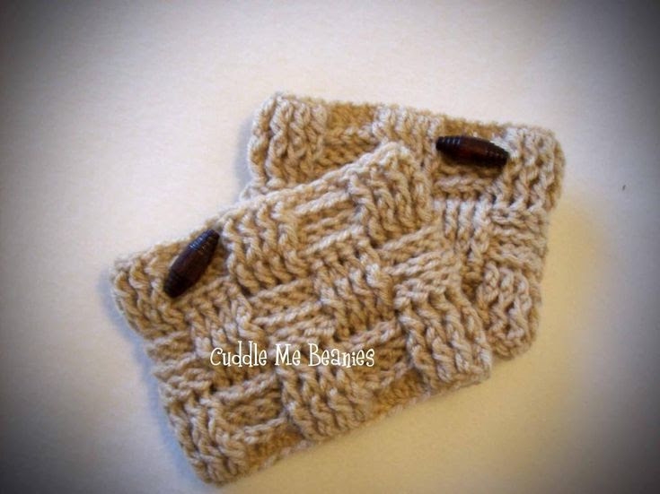 Waffle Boot Cuff Crochet Pattern pattern on Craftsy.com
