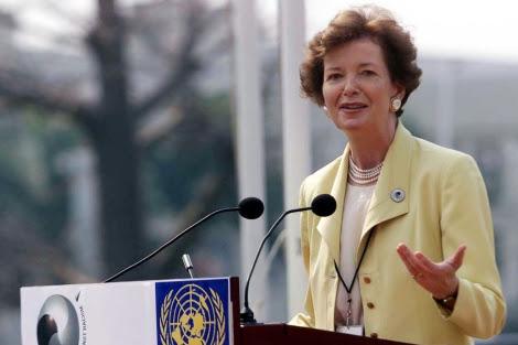 Mary Robinson en su época de Comisaria de Derechos Humanos de la ONU. | Ap
