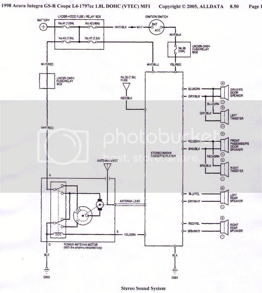 Wiring Diagram For 1995 Acura Integra - There You Go Alldata I Never Argue  With It