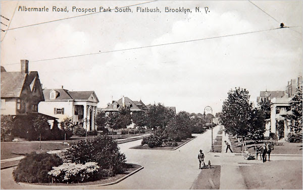 Albemarle And Buckingham Roads, Prospect Park South, 1909 Postcard